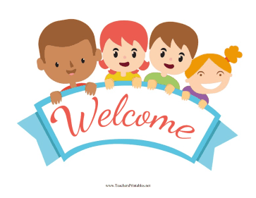 Image result for welcome sign for children