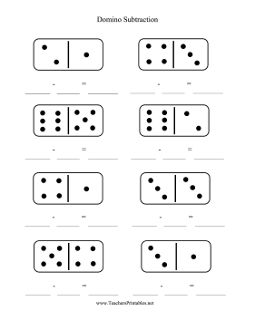 photograph regarding Printable Dominos referred to as Domino Subtraction Worksheet