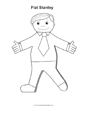 Flat stanley for Free printable flat stanley template