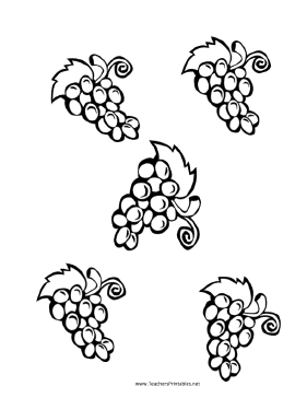 Grapes stencil fruit templates leaf template paint stencils new by.