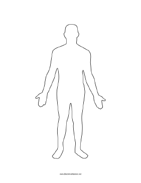 graphic about Blank Human Body Outline Printable named Human overall body-person Blackline Learn