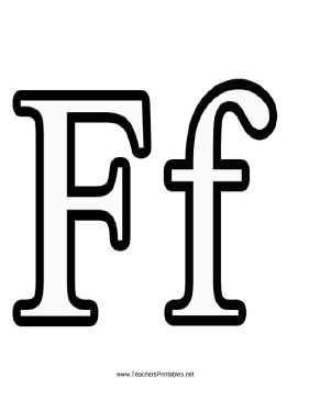 Letter F Teachers Printable