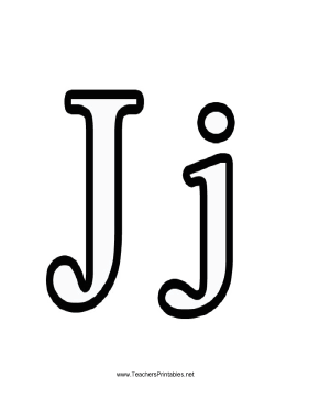 graphic regarding Letter J Printable known as Letter J
