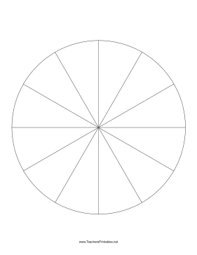 Pie Chart Template 12 Slices