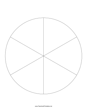 pie chart template 6 slices