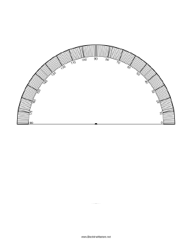 picture relating to Protractor Printable Pdf known as Printable Protractor