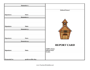 Transformative image in printable report card template