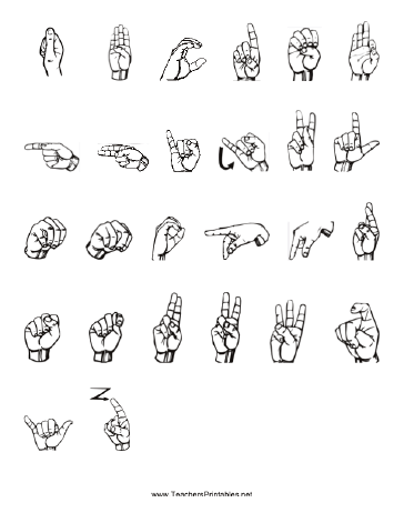 image regarding Asl Printable known as Signal Language Printables