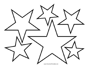 Wild image regarding star stencils printable