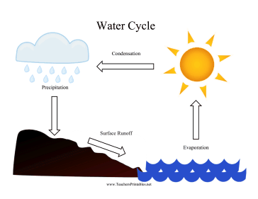 Water Cycle Chart Teachers Printable