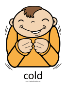 Cold Sign Color teachers printables