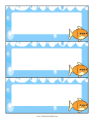 Desk Labels Fish teachers printables