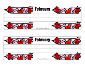 Desk Tag February teachers printables