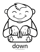 Down Sign teachers printables