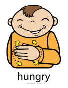 Hungry Sign Color teachers printables