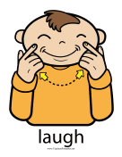 Laugh Sign Color teachers printables