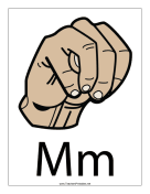 Letter M-Filled-With Label teachers printables