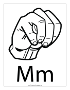 Letter M-Outline-With Label teachers printables