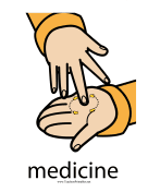 Medicine Sign Color teachers printables