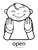 Open Sign teachers printables
