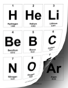 Periodic Table Flash Cards teachers printables