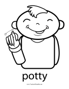 Potty Sign teachers printables