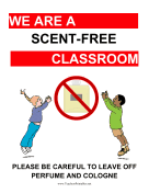 Scent-Free Classroom Poster teachers printables