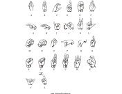 Sign Language Chart teachers printables