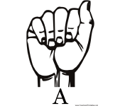 Sign Language with A teachers printables