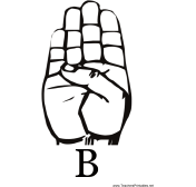 Sign Language with B teachers printables