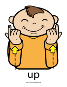 Up Sign Color teachers printables